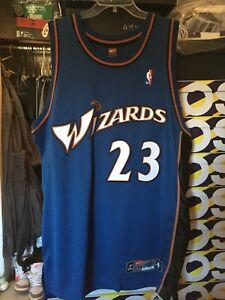 huge selection of 71ef7 8135c Details about Nike Authentic Michael Jordan Washington Wizards Jersey sz 48  rare vintage XL