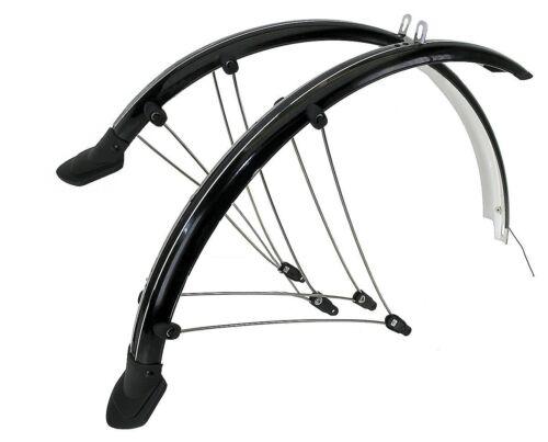 """Fahrrad Schutzblech Set 24/"""" 56mm Schutzbleche schwarz Kontaktierung f Rücklicht"""