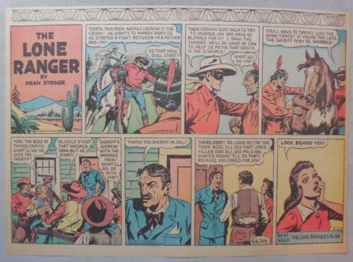 Lone Ranger Sunday Page by Fran Striker and Charles Flanders from 11//24//1940
