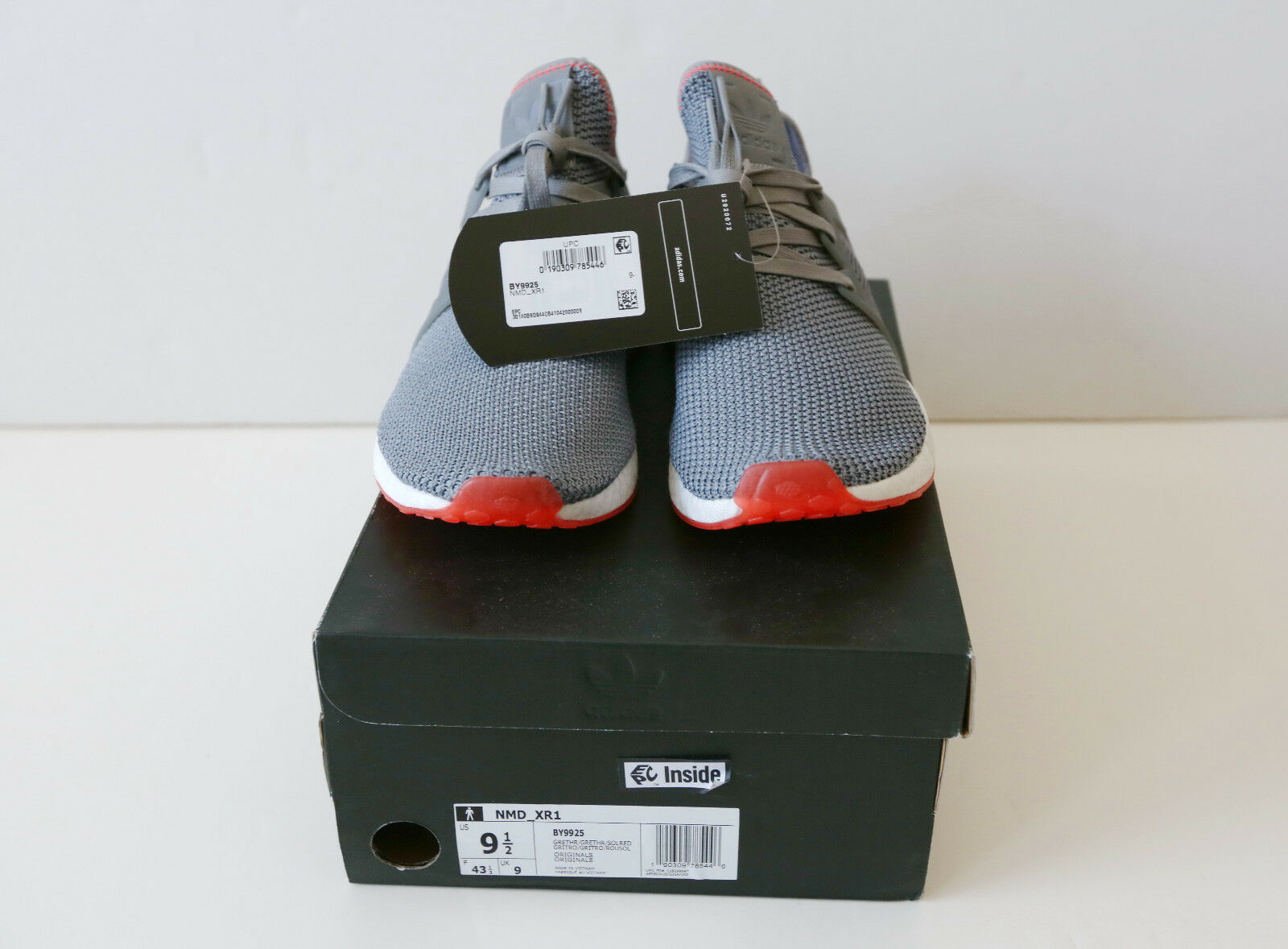 Adidas NMD_XR1 Grey/White/Orange BY9925 Shoes 9.5 *New*