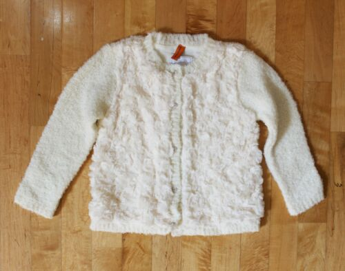 NWT Mayoral Baby Girl Knit Rose Fluffy Cream Cardigan ~ Size 12M 24M