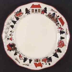Mason-039-s-CHRISTMAS-VILLAGE-Dinner-Plate-Imperfect-8688029