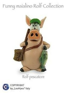 Piglet-Pig-Rolf-Les-Alpes-Fisherman-Resin-014-92760-Characters-Collection