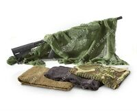 Camo Ghillie Sniper Face Veil Hood Tactical Head Wrap Cover Bandana Net Scarf