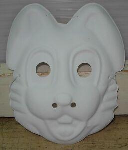 Maschera Carnevale Bianca Da Colorare Personaggi Disney Ebay
