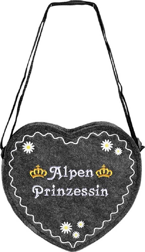 Herz Filztasche Tasche Umhaengetasche Blickfang Alpen Prinzessin 26342