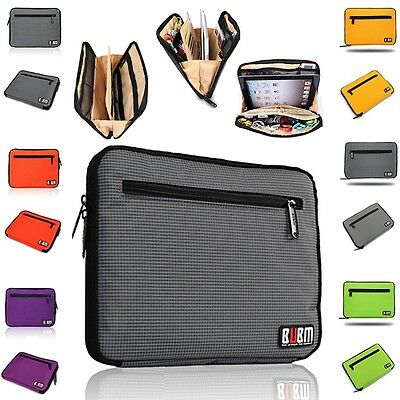 Tablet Sleeve Pouch Case USB Flash Drive Cable Organizer for iPad 2 3 4 Air Mini