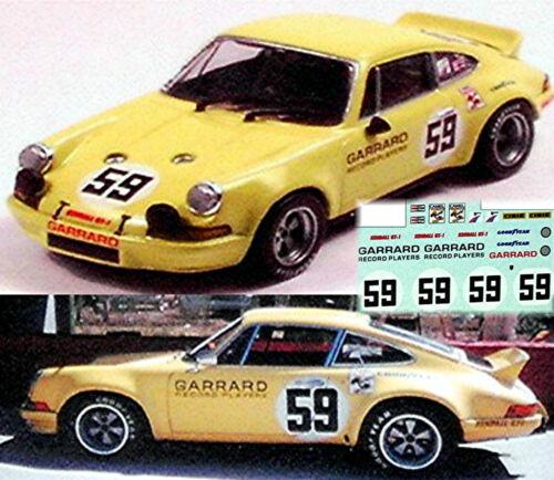 Porsche 911 Carrera RS Garrad 1973 #59-1:43 decal estampados