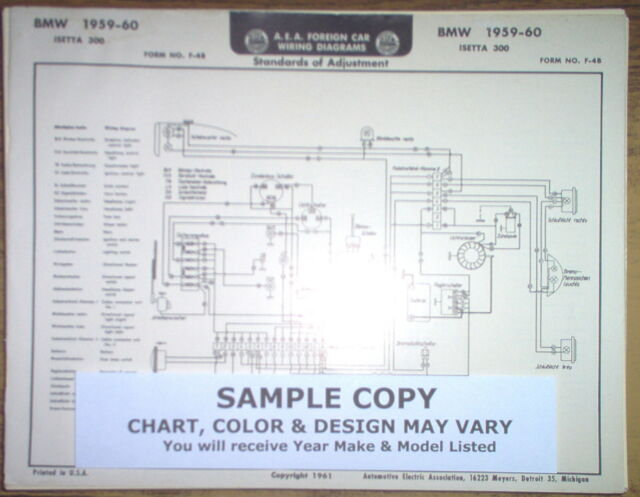 1959 Ford  English  Four Series Prefect Models Aea Wiring