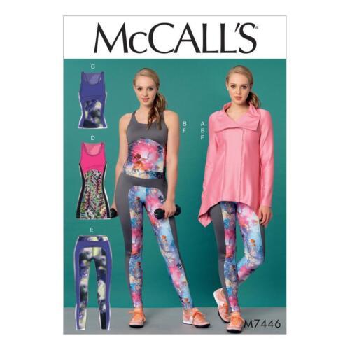 Mccalls Sewing Pattern 7446 Gym Sports Dancewear Leggings Jacket