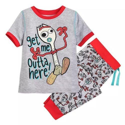 DISNEY TOY STORY 4 Toddler Boys 3 FORKY Pajama Set NWT