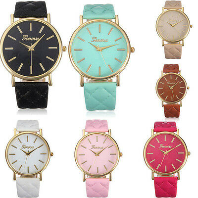 Hot Quartz Analog Wrist Watch Casual Leather Band Watches Women Dress Watches
