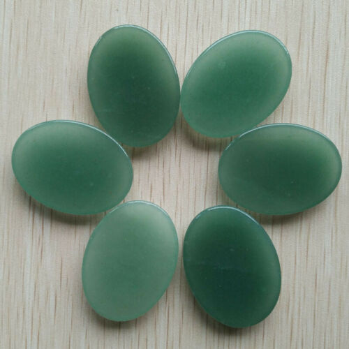 Wholesale 10pcs//lot Natural green aventurine Oval CABOCHON Beads 30x40mm