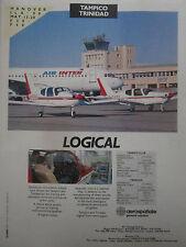 5/1990 PUB SOCATA AEROSPATIALE TRINIDAD TAMPICO AIRBUS AIR INTER ORIGINAL AD