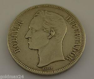 Venezuela-1926-Silber-Bolivar-Gram-25-Stempelglanz