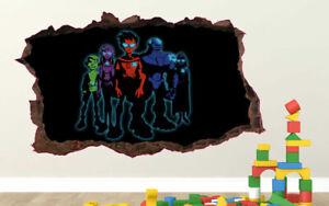 Teen Titans /& Powerpuff Girls Custom Wall Decals 3D Wall Stickers Art JO121