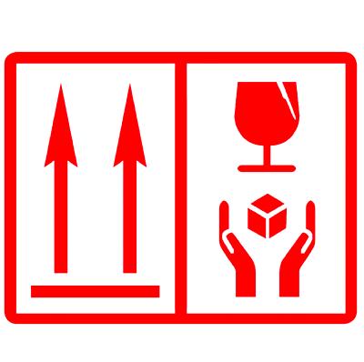 100 Packung Aufkleber / Etikett - This Way Up - Fragil Handle With Care Warmes Lob Von Kunden Zu Gewinnen