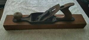 Vintage-Stanley-Bailey-No-28-Wood-Plane-18-034-Patent-6-9-12