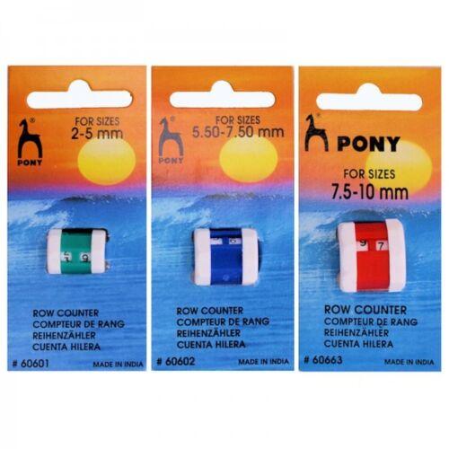 Pony Aguja Tejer tejido de punto contador de filas registrar Pequeño Grande Jumbo Todas Las Tallas