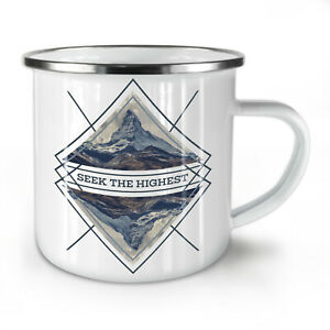 Motivational NEW Enamel Tea Mug 10 oz | Wellcoda