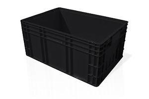 Aktion-32x-fabrikneue-Stapelkisten-Behaelter-R-KLT-6429-600x400x280-mm-schwarz