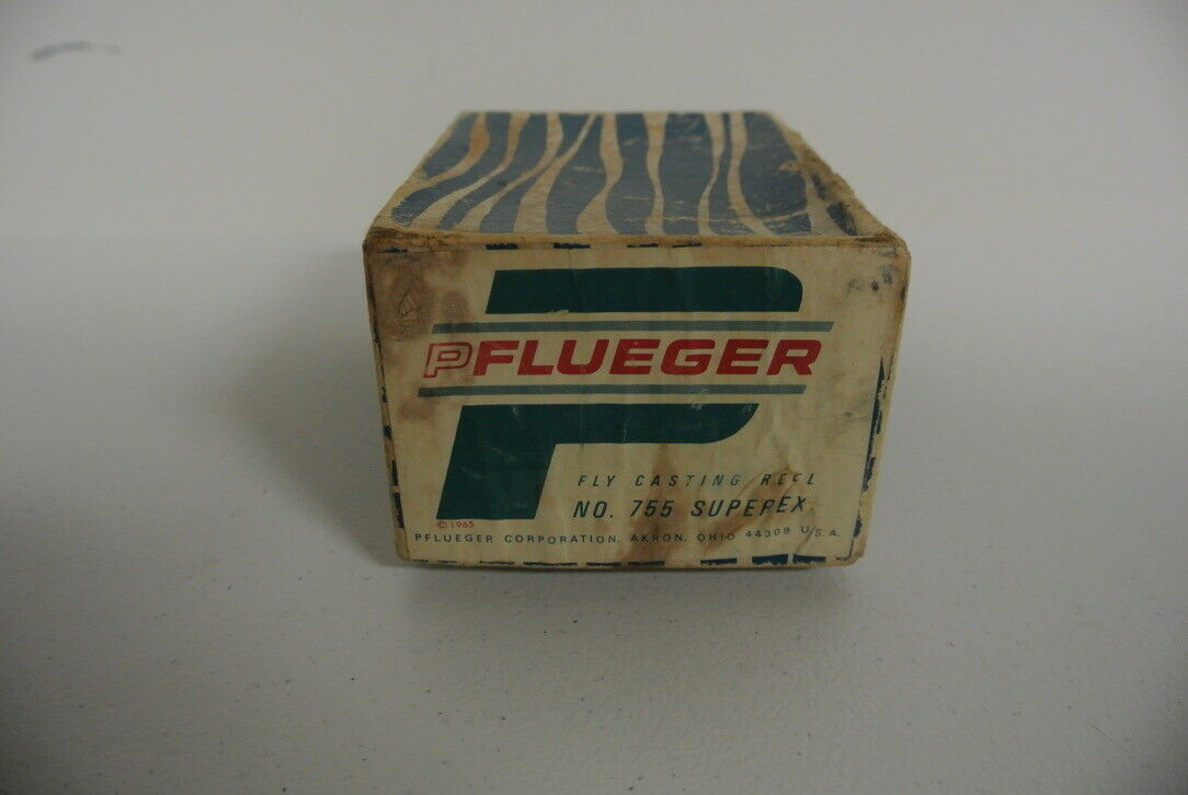 Vintage Pflueger súperex  755 súperex Casting Reel de Pesca con Mosca-IOB