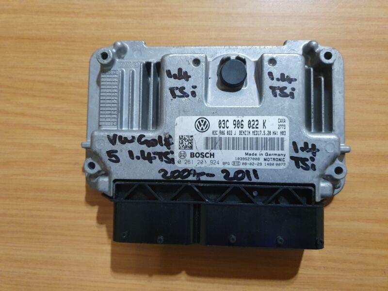 VW Golf 5 1.4 TSI CAXA 2007-2011 Bosch Auto ECU part# 03C 906 022 K