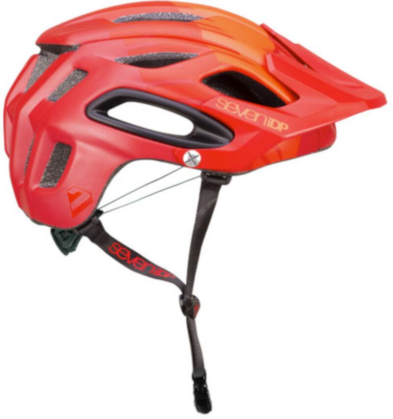 Seven 7iDP M2 MTB Bike Helmet Tactic 'Boa' Light Mid Dark Red