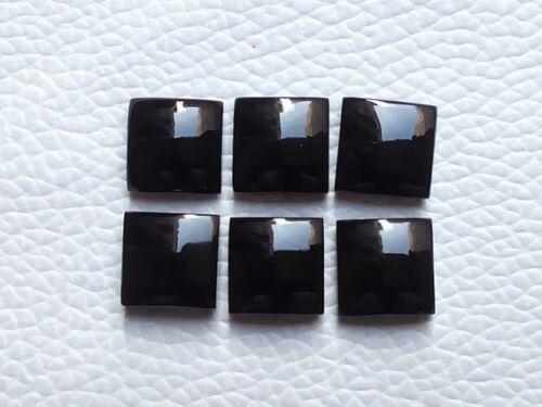 Lote Cuadrado-Ónice negro natural 3x3mm a 10x10mm Cuadrado Cabujón Piedra Suelta