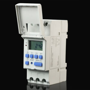 Deutsches-Institut-fur-Normung-Rail-de-montage-Hebdomadaire-Numerique-Minuterie-Programmable-THC15A
