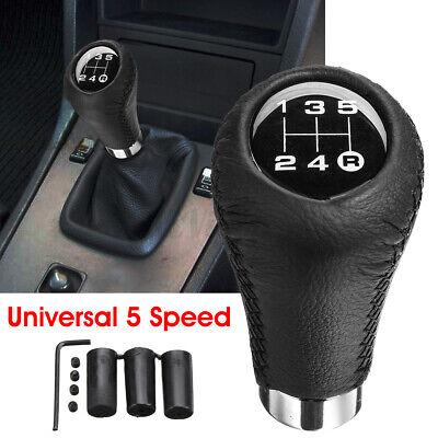 5 Speed Car Gear Stick Styling Transmission Knob Shifter Level PU Leather Metal