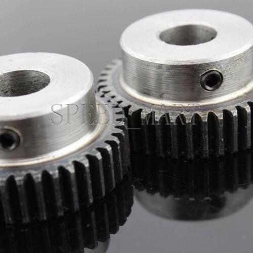 Details about  /2 x 1M-40T 15mm Bore Hole 40 Teeth 40T Module 1 Motor Metal Gear Wheel Top Screw