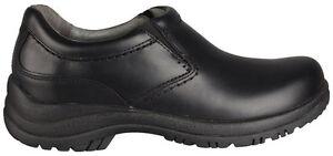 Men's Dansko Wynn Slip Resistant SlipOn Black Smooth Leather
