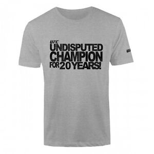 UFC Undisputed Champion T-Shirt - Heather Gray - Men's  Sizes S/M/L/2XL NWT
