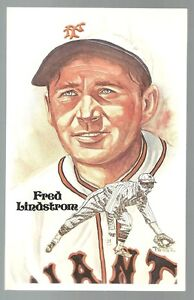 156-FRED-LINDSTROM-Perez-Steele-Hall-of-Fame-Postcard