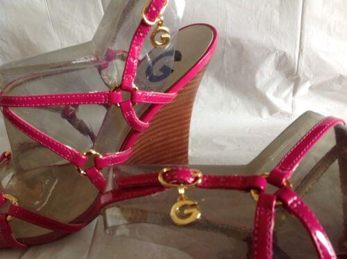 m Nwob G Guess Wedge Heels 6 von 2 Mayes Design 5 Kunstleder wParwq