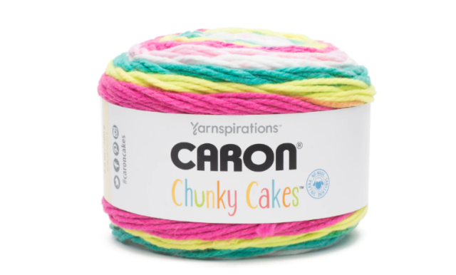 Caron Chunky Cakes Yarn in Gradient Sweet and Sour 100 Acrylic 9 8 Oz