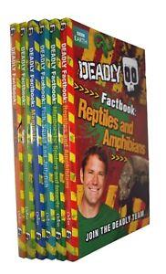 Deadly-Animal-Series-6-Fact-Books-Steve-Backshall-Kids-Boy-Girls-In-Wallet-New