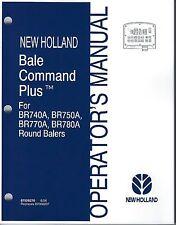 holland br740 br750 br770 br780 round baler operator manual ebay rh ebay com new holland br780 parts manual new holland br780 baler manual