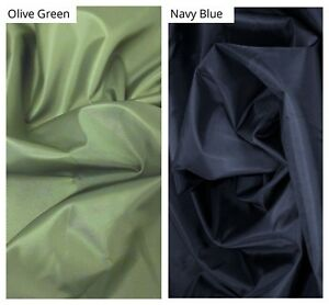 Green waterproof nylon fabric 155cm wide