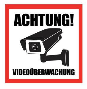 1 50 Stk Achtung Videouberwachung Aufkleber Hinweisschild