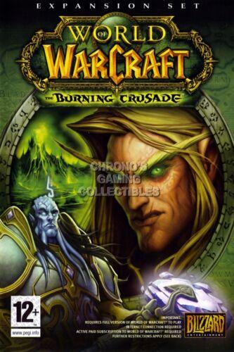 EXT176 RGC Huge Poster World of Warcraft Burning Crusade BOX ART WOW PC