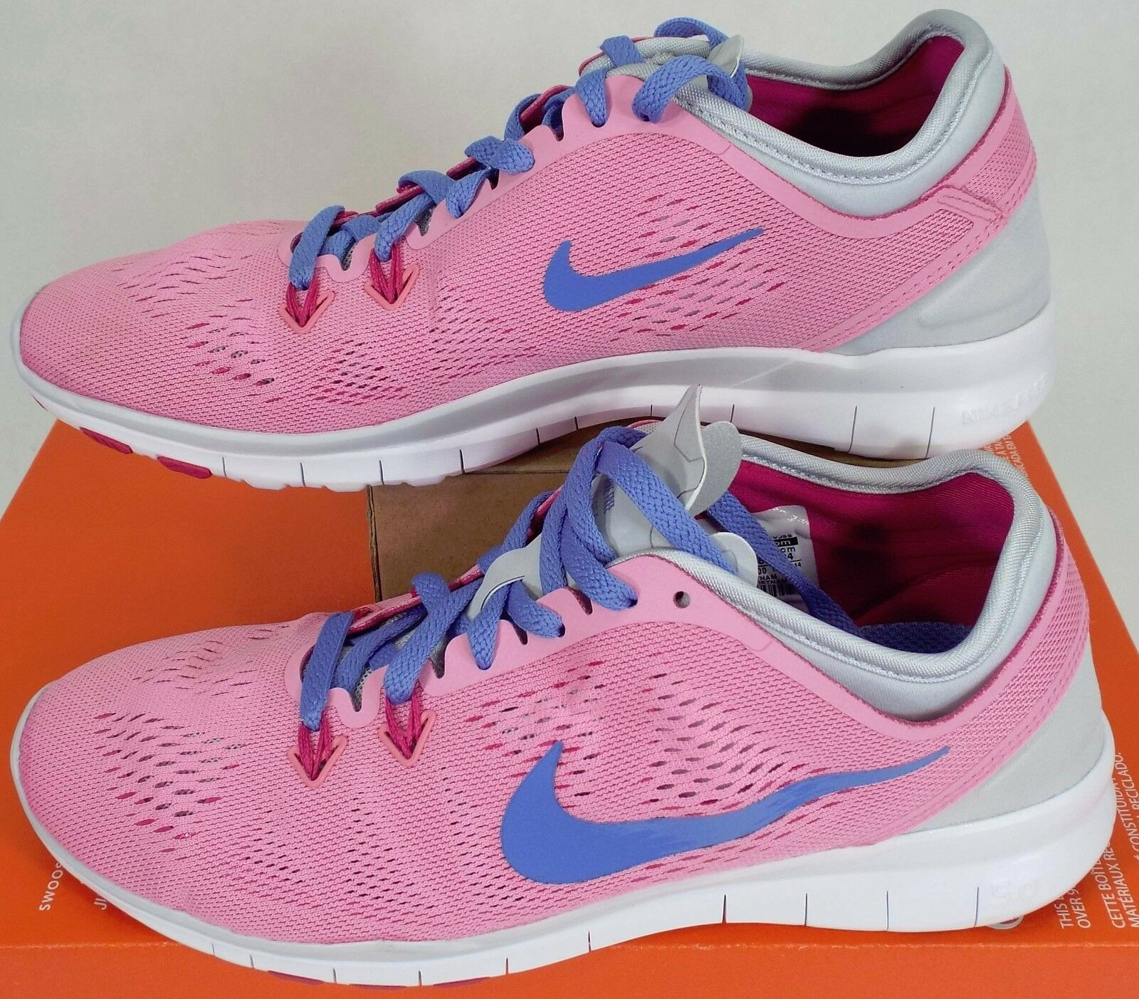 RARE SAMPLE Womens 7 NIKE Free 5.0 TR Fit 5 Pink shoes  120 704674-600