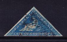 SOUTH AFRICA Cape of Good Hope 1853 SG4a - 4d blue - 4 good margins f/u cat £200