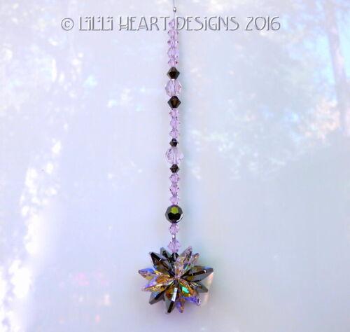 Silver Night Star Suncatcher Lilli Heart Designs m//w RARE Aurora Borealis Pink