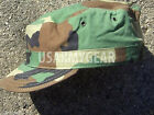 New 7 1/4  7.25 US Army Military Woodland Camouflage USGI Patrol Cap Hat Cover