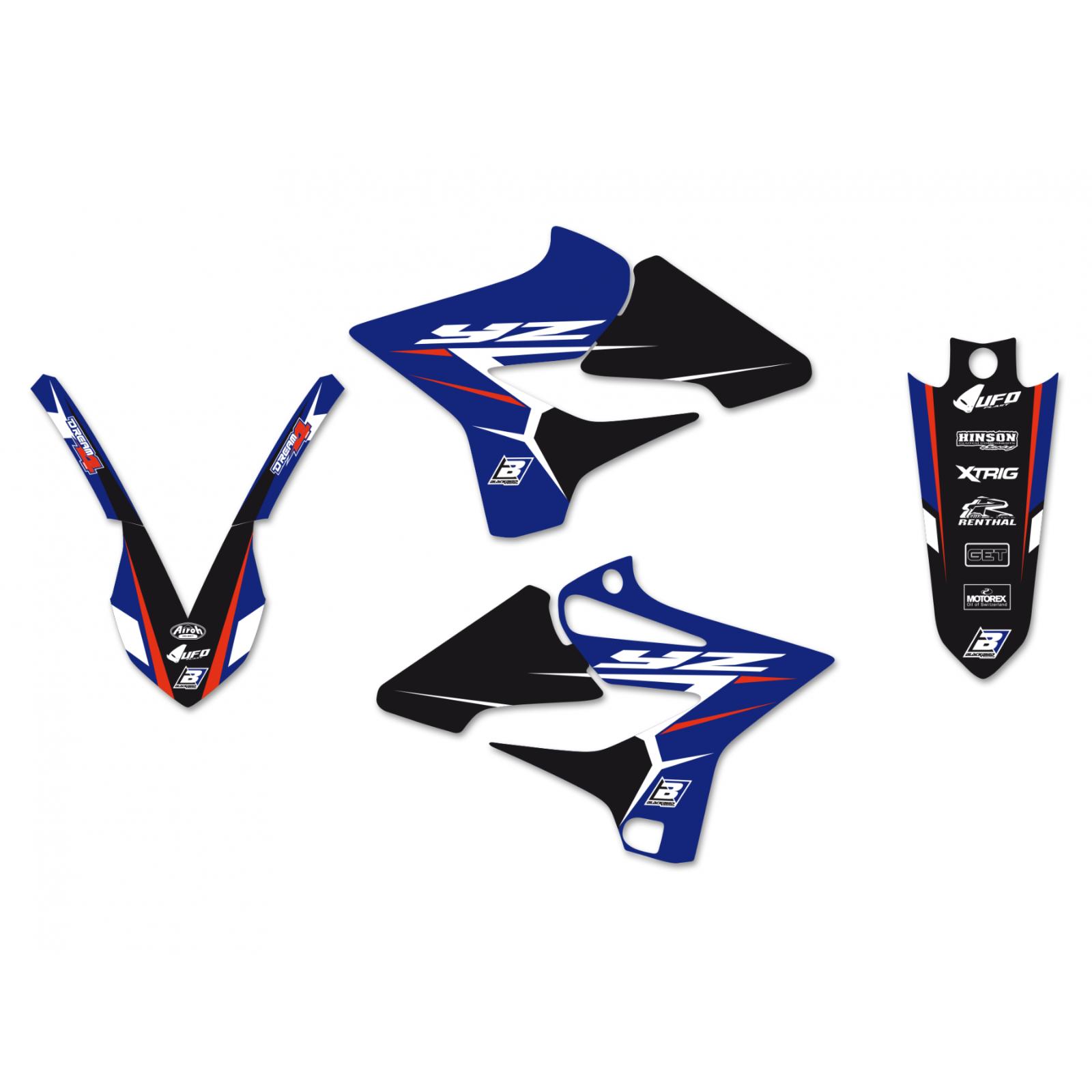 Kit adesivi moto grafiche Yamaha Yz 125 / 250 2015 2016 2017 2018 2019 2020 2021