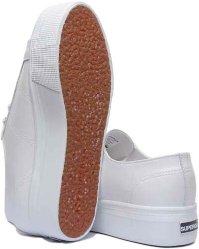 Details about  /Superga 2790 Nappa Womens Nappa Flatform Trainers In White UK Sizes 3-8
