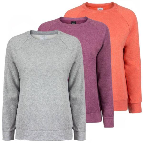 ONLY Damen Sweatshirt Pullover Sweater Pulli kuschelig weich meliert onlLINDA