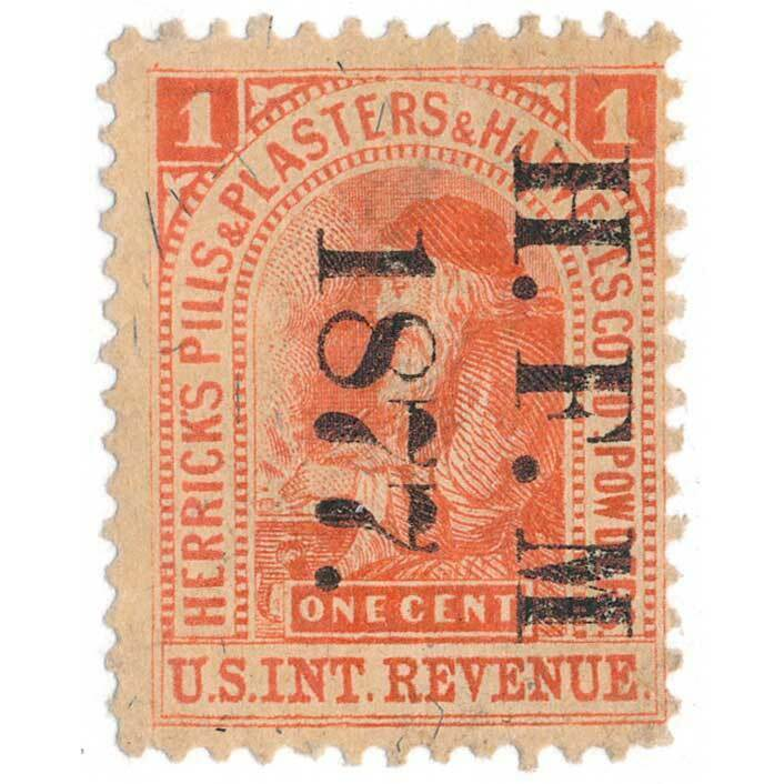 Herrick's Pills 1c U.S. Internal Revenue RS118b Private
